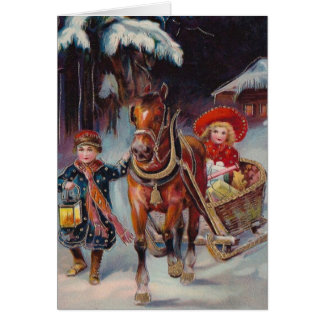 Carte de Sleigh de Noël