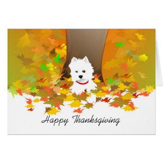 Carte de thanksgiving - bon thanksgiving Westie
