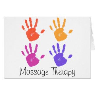 Carte de thérapie de massage