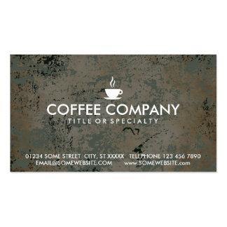 carte de timbre de café cartes de visite professionnelles