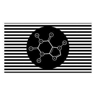 carte de timbre de rayure de molécule de café carte de visite standard