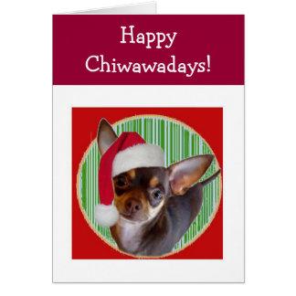 Carte de vacances de chiwawa