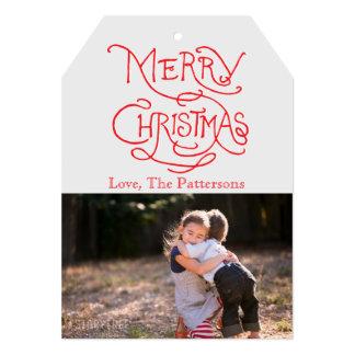 Carte de vacances de photo : Joyeux Noël de Carton D'invitation 12,7 Cm X 17,78 Cm