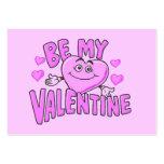 Carte de Valentine - soyez mon Valentine Modèles De Cartes De Visite