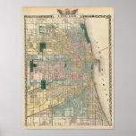 Carte de ville de Chicago Posters