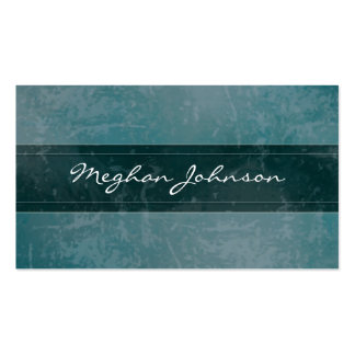 Carte de visite à la mode turquoise de marbre grun