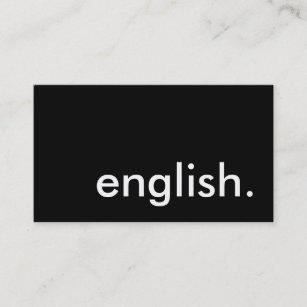 Carte De Visite Anglais