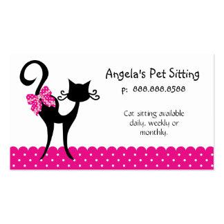Carte de visite animal de garde d enfants de chat