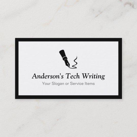 Carte De Visite Auteur Technologie