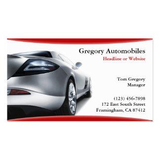 Carte de visite automatique de voitures
