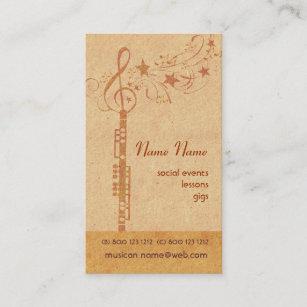 Carte De Visite Bande Hautbois Musique