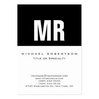 Carte de visite blanc noir gris de monogramme