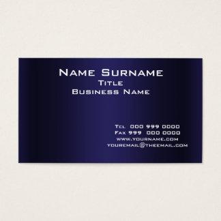 Carte de visite bleu-foncé