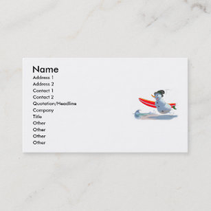 Carte De Visite Bonhomme Neige Surfer