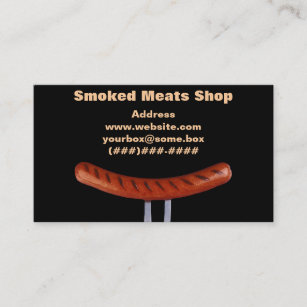 Carte De Visite Boucherie Fumee
