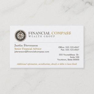 Carte De Visite Boussole Financire Finances Danalyste
