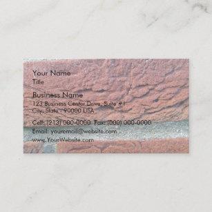 Carte De Visite Brique Rouge