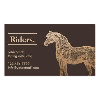 Carte de visite bronzage d'équitation de cheval d'