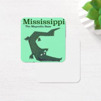 Carte De Visite Carré Affiche vintage de voyage d'alligator du