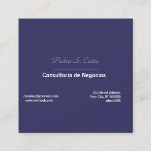Carte De Visite Carr Plain Simplicity Purple I Freelancer Unique Cool