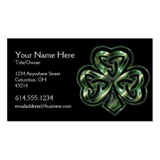 Carte de visite celtique d'Irlandais de la concept
