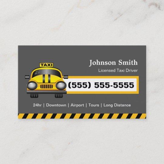 Carte De Visite Chauffeur Urbain Taxi