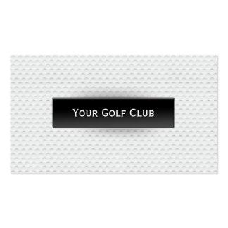 Carte de visite chic de golf de texture de boule d
