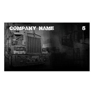 Carte de visite coloré par gris pour une compagnie