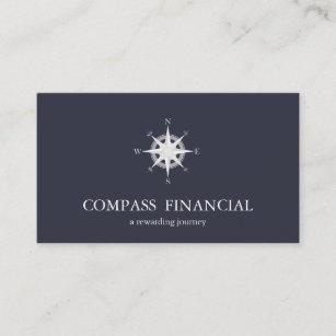 Carte De Visite Conseiller Financier Nautique Bleu Marine
