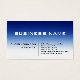 Carte de visite contemporain bleu blanc de