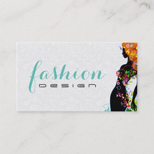 Carte De Visite Couturier Colore Demoiselle Honneur 2