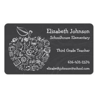 Carte de visite d Apple de professeurs