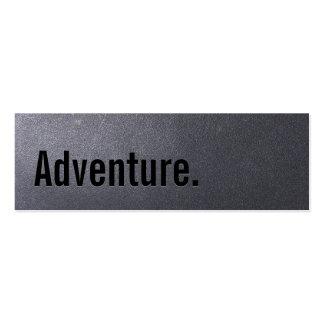 Carte de visite d aventure de voyage de noir de ch