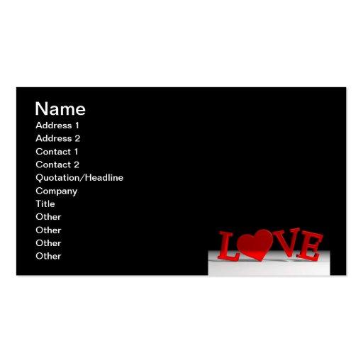 Carte de visite d'amour