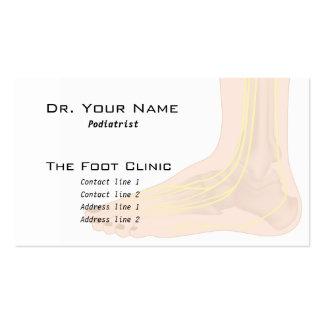 Carte de visite d'anatomie de pied