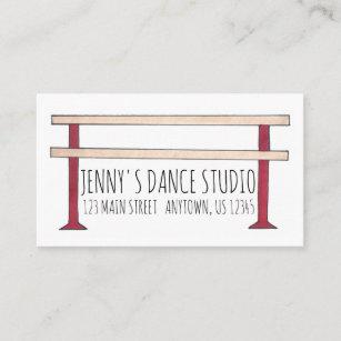 Carte De Visite Danseur Studio Professeur Danse