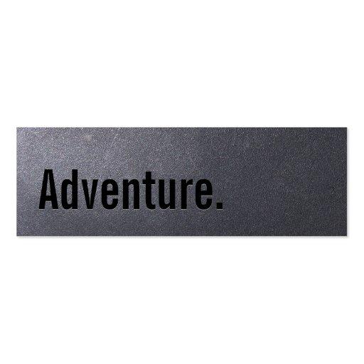 Carte de visite d'aventure de voyage de noir de ch