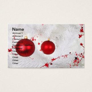 Carte de visite de babioles de Noël