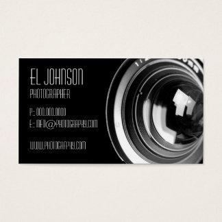Carte de visite de base de photographie (Noir)