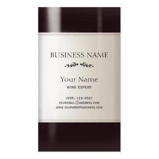 Carte de visite de bouteille de vin