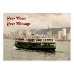 Carte de visite de calendrier du ferry 2011 d'île