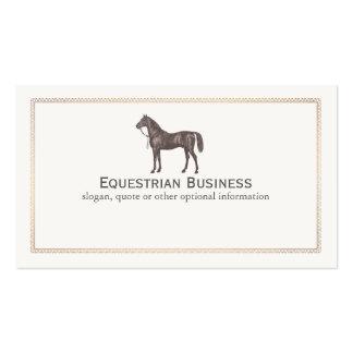 Carte de visite de cavalier de cheval de Brown