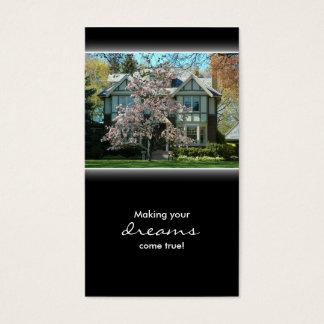 Carte de visite de Chambre d'immobiliers de fleurs