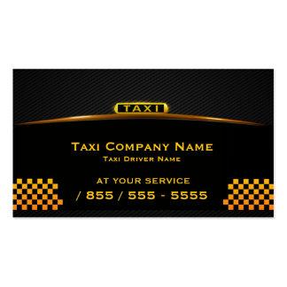 Carte de visite de chauffeur de taxi de Cab Compan