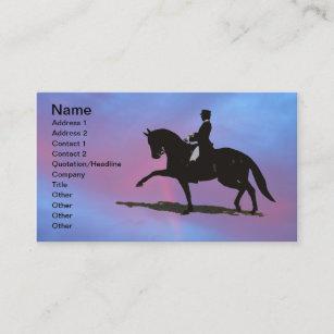 Carte De Visite Cheval Dressage