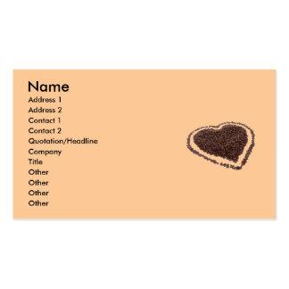 Carte de visite de coeur de café