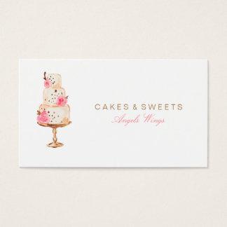 Carte de visite de coutume de gâteaux et de