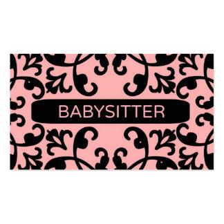 Carte de visite de damassé de babysitter