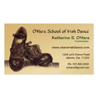 Carte de visite de danse d Irlandais