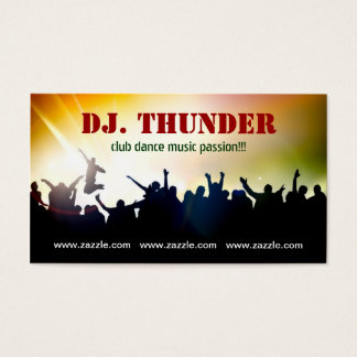 carte de visite de danse de musique